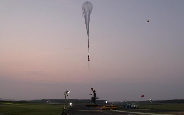 2016年大気球実験放球の様子(biopauseプロジェクト)