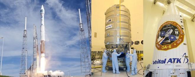 アトラスVロケットとシグナス補給線(画像:NASA提供)