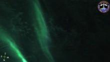 2016年9月3日(GMT)にISSに設置されたメテオから撮影したオーストラリア南岸の南極海上空のオーロラの動画(2)