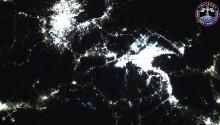 2016年9月9日(GMT)の日本上空からの夜景
