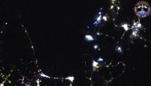 2016年11月24日11時51分頃(GMT)に撮影された青森から南北海道,根室にかけての夜景です