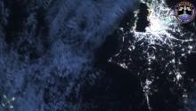 2016年12月14日10時41分頃(GMT)に撮影された関東平野から房総半島にかけての日本上空の夜景です.