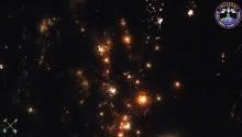 2017年1月3日1時3分頃(GMT) 、イラン西部上空で捉えた流星です.(画面左上)