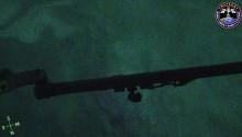 2017年4月22日18時37分頃(GMT)に南極海上空で撮影されたオーロラの様子です.画面中央はISSのロボットアームです.