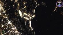 2017年5月19日22時38分頃(GMT)に撮影されたピサ,フィレンツェ,ボローニャ,ベネチアなどイタリアの夜景です.