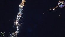 2017年5月22日18時26分頃(GMT)に撮影されたナイル川周辺の夜景です.