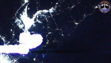 2017年5月27日17時42分頃(GMT) 、日本の関西地方の夜景です.画面中央はISSのロボットアームです.