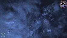 2017年10月9日21時52分頃(GMT) に撮影されたコンゴ中央部上空の雷の様子です.